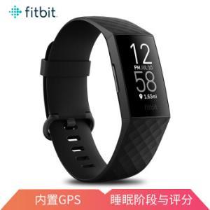 Fitbit智能运动手环Charge4心率实时监测睡眠监测50米防水自动锻炼识别来电显示内置GPS黑色 1198元