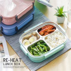 保温饭盒日式便当盒304不锈钢2层学生餐盒分格餐盘带盖