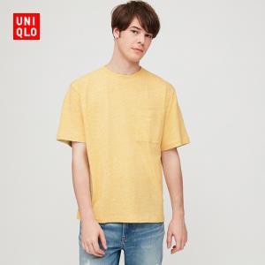 UNIQLO优衣库422996竹节纱圆领T恤 59元