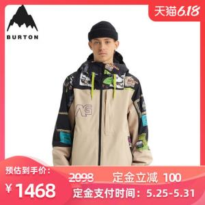 BURTON伯顿男士单板滑雪外套滑雪服214741 1468元
