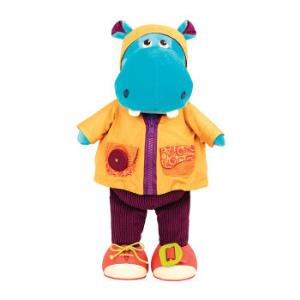 B.Toys比乐爱笑的斑马婴幼儿童穿衣发声毛绒娃娃玩具2岁+六一儿童节礼物爱笑的河马 99元