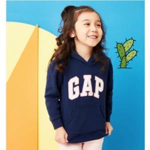 GAP盖璞450805E女童徽标长袖连帽卫衣 55.3元