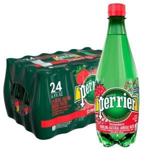 Perrier巴黎水草莓味气泡矿泉水塑料瓶500mlx24瓶/箱 94元(需用券)