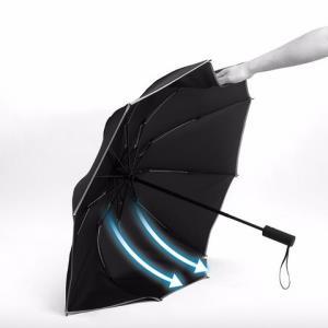 全自动雨伞男士反向伞大号折叠三折晴雨伞商务简约十骨带反光条冷酷黑 39.8元(需用券)