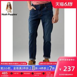 HushPuppies暇步士男装2019新款夏季弹力修身牛仔裤子|PQ-29351A*4件 948元(合237元/件)