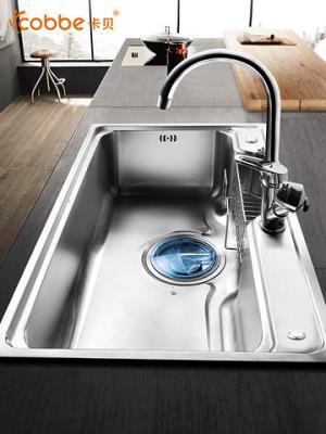 卡贝水槽单槽厨房洗菜盆加厚304不锈钢洗菜池水池菜盆家用洗碗槽 199元