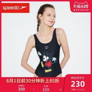Speedo/速比涛迪士尼系列米奇印花连体温泉泳衣女抗氯*2件    330元(合165元/件)
