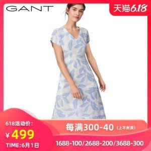 GANT/甘特GANT/甘特女士春优雅时尚休闲花版连衣裙4501016*3件 439元包邮