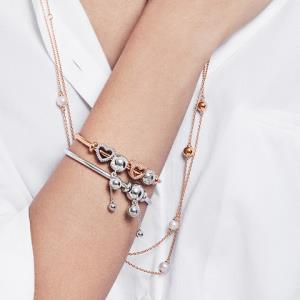 Pandora潘多拉爱心连珠925银串饰797516时尚创意DIY串珠饰品女    124元