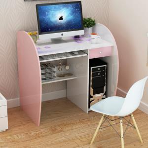 北欧电脑桌书桌现代简约家用学生桌子卧室写字桌多功能书架一体桌 45元包邮