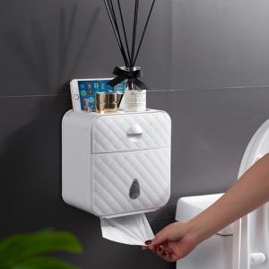 卫生间纸巾盒北欧防水免打孔壁挂式置物架家用厕所洗手间厕纸盒 29.9元