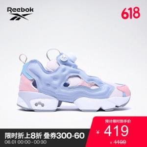 Reebok锐步男女经典跑步鞋PUMPFURYOG夏季潮流透气运动鞋EH0975EH0975_浅蓝色/粉色37.5+凑单品 208.8元(需用券)