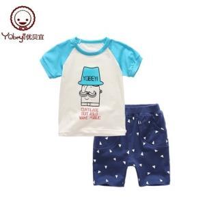 Yobeyi优贝宜儿童短袖短裤套装 19.9元