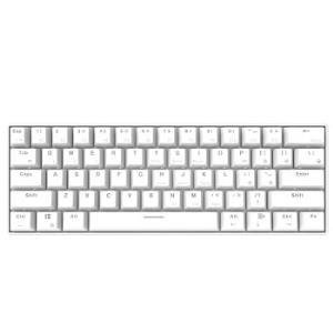 黑爵(AJAZZ)i610T有线蓝牙双模机械键盘办公键盘白光61键便携多设备苹果mac白色黑轴*2件 278元(需用券,合139元/件)