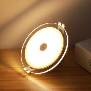雷士照明led筒灯5W嵌入式三色调光客厅吊灯孔灯8公分射灯面环透光 32.9元