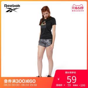 Reebok锐步官方运动健身REDELTAGRAPHIC女子夏季短袖T恤FSK11 59元