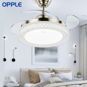 OPPLE吊扇灯隐形风扇灯led餐厅现代简约吊灯智能调光调色送遥控器怡风 649元