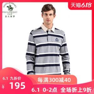 S.B.P.R.C/圣大保罗男士宽松polo衫条纹长袖T恤PS13KT106