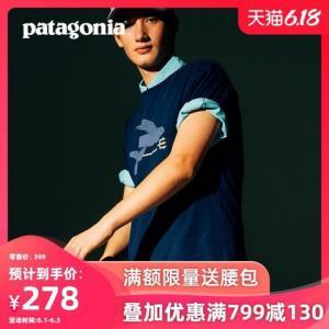 PATAGONIA巴塔纯有机棉透气男圆领T恤短袖潮流夏季39145