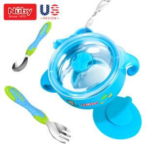 努比(Nuby)儿童餐具保温碗新生儿宝宝不锈钢餐具套装婴儿辅食碗吸盘碗叉子勺子套装*2件    115元(需用券,合57.5元/件)