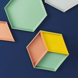 移动端:卓忆北欧几何收纳果盘4件套 14.9元(需用券)