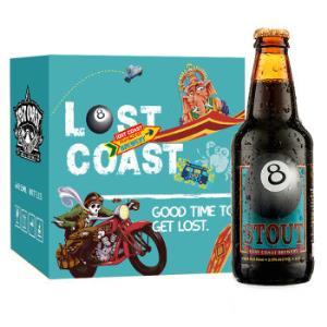 LOSTCOAST迷失海岸黑八世涛啤酒355ml*6瓶*2件