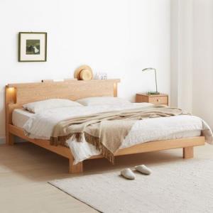 1日0点:VISAWOOD维莎原木日式风纯实木双人床1.2m 1215元包邮