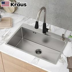 Kraus克劳思CKHT100-2718304不锈钢厨房水槽 689元