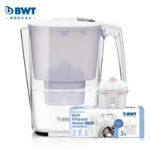倍世(BWT)净水器家用滤水壶净水壶过滤壶思镁系列Slim3.6L典雅白去水垢加强版1壶4芯装 255.55元