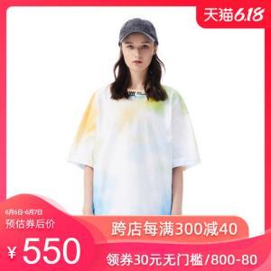 inxxsports潮牌新品情侣短袖刺绣个性印花T恤男女通款*2件 980元(合490元/件)