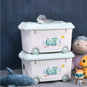 禧天龙45L环保抗菌收纳箱带滑轮儿童整理箱卡通印花衣物玩具储物箱2个装+凑单品 87元(需用券)