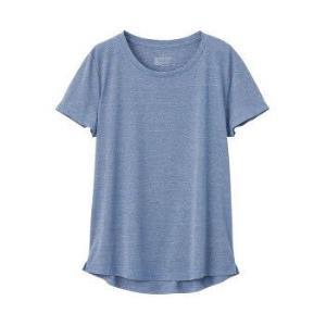 无印良品MUJI女式吸汗速干短袖T恤蓝色M 107元(需用券)