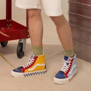 Vans范斯经典系列Style#38板鞋安纳海姆高帮男女拼色官方蓝色/红色35    565元(需用券)