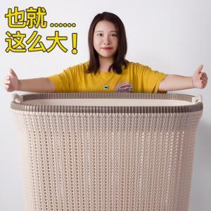 大号藤编脏衣篮塑料家用脏衣篓脏衣服收纳筐浴室衣物收纳篮子12元