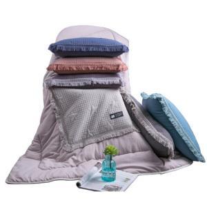 水洗棉抱枕被子两用纯棉午睡枕沙发床头大靠垫被汽车载空调春秋被73元(需用券)