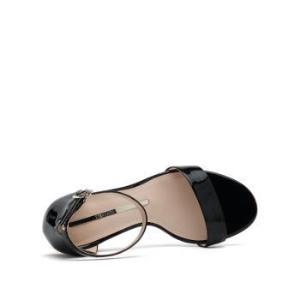 STACCATO思加图9DX01BL9漆皮粗高跟一字带凉鞋 148.1元
