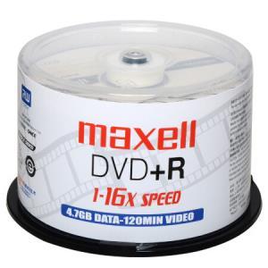麦克赛尔DVD+R光盘刻录光盘光碟空白光盘16速4.7G影音系列桶装50片京东*2件55元(合27.5元/件)