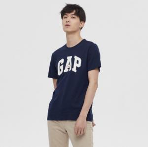 Gap盖璞000471777男装棉质舒适徽标LOGO短袖T恤 79元包邮