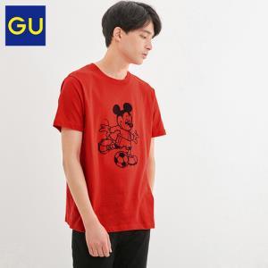 GU极优男装印花T恤(短袖)Disney米奇迪士尼合作款纯棉上衣324089