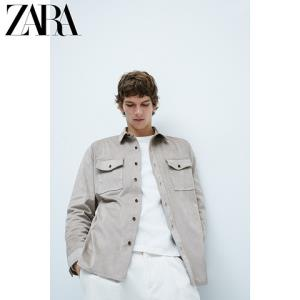 ZARA06318301806绒面质感休闲衬衫外套 79元