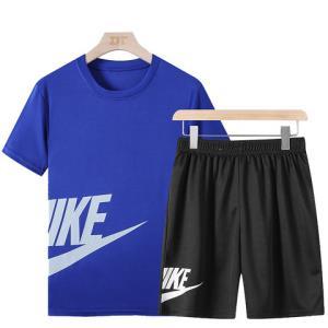 运动套装男夏季休闲运动服套装男速干两件套短袖短裤衣服潮流宽松 39元