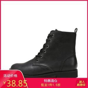 SHOEBOX/鞋柜休闲时尚短靴高帮鞋马丁靴女1117505249 38.85元