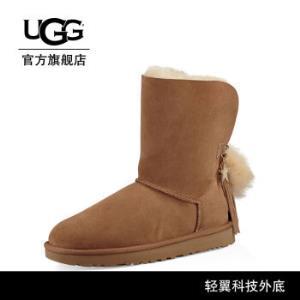 UGG冬季女士雪地靴经典水晶系列链条休闲短靴1095717CHE|栗子棕色36尺码偏小建议选大一码 799元包邮