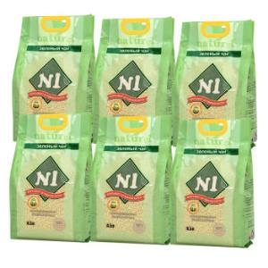 N1爱宠爱猫玉米绿茶活性炭豆腐猫砂无尘吸水祛味易结团玉米原味猫砂2kg*6包99元
