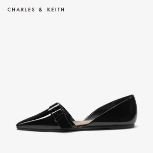 CHARLES&KEITH2020春新品CK1-70900170搭扣装饰平底单鞋奥赛鞋女 159元