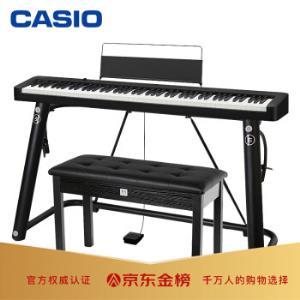 卡西欧(CASIO)电钢琴CDP-S100BK88键重锤电钢琴便携双电时尚家庭款(琴头琴架琴凳耳机礼包)    2379元