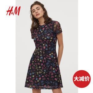 HMDIVIDED女装裙子女春装2020款女新款碎花波点连衣裙0872454 80元