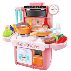 儿童过家家厨房玩具做饭套装小宝宝女孩仿真迷你全套收纳厨具煮饭 19.8元包邮(需用券)