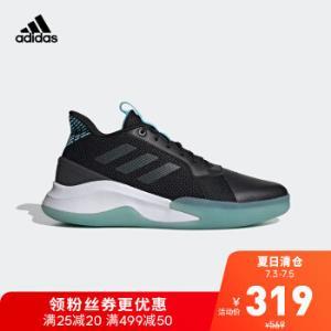 阿迪达斯官网adidasRUNTHEGAME男子篮球场上运动鞋EG0983一号黑/淡灰/浅水蓝42(260mm)    299元