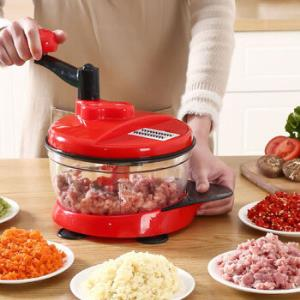 莱杉手动绞肉机搅蒜器红色小经典